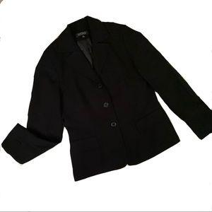 Kasper Black Button Blazer Size 8